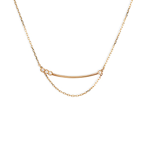 Sophie Ratner - Asymmetrical Diamond Bar Necklace
