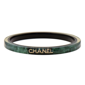 Chanel - Green Resin Bangle