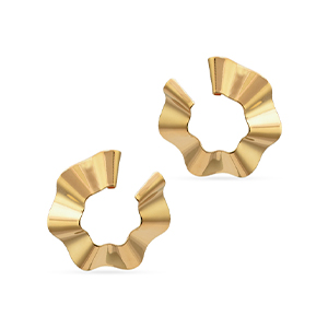 Gaviria - Small Ravioli Hoop Earrings (Gold)