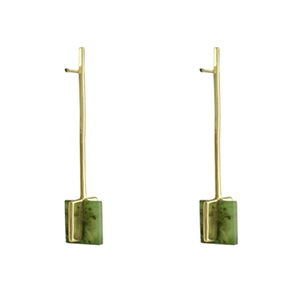 Odette - Meter Earrings in Columbian Jade