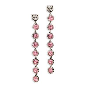 e58f7fc8da3 Gucci - Feline Pink Crystal Embellished Earrings