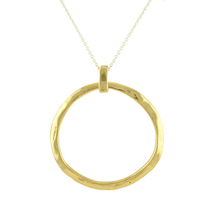 Odette - Crater Necklace (Brass)