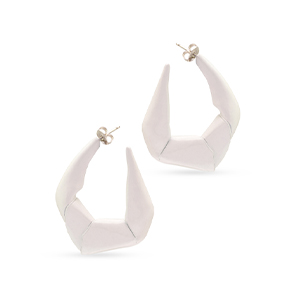 Gaviria - Large Trash Earrings (White)