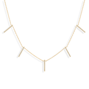 Do Not Disturb - The Shanghai Necklace (14k Yellow Gold And Diamonds)