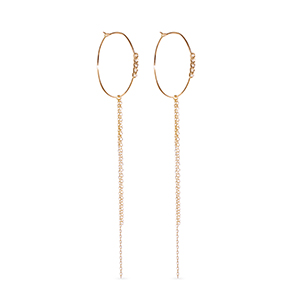 Sophie Ratner - Diamond and Chain Hoops