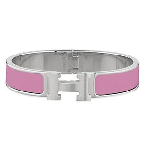9c2514bf9f73 New Hermes - Narrow Clic H Bracelet (Bright Pink Palladium Plated) - PM