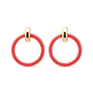 Balenciaga - Hoop Earrings (Dark Pink)