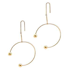 Celine - Large Arc Drop Hoop Earrings