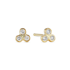 Sophie Ratner - Triology Studs (Yellow Gold)