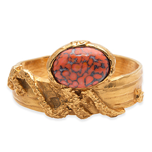 Yves Saint Laurent - Arty Oval Cuff (Red)